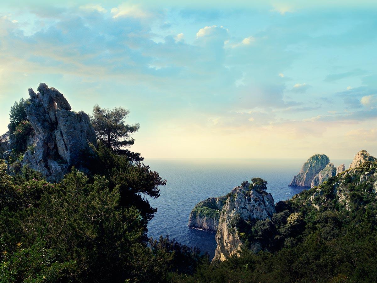 The Tyrrhenian Sea and the Fraaglioni, Capri, Italy Carmichael Productions, Inc. Landscape