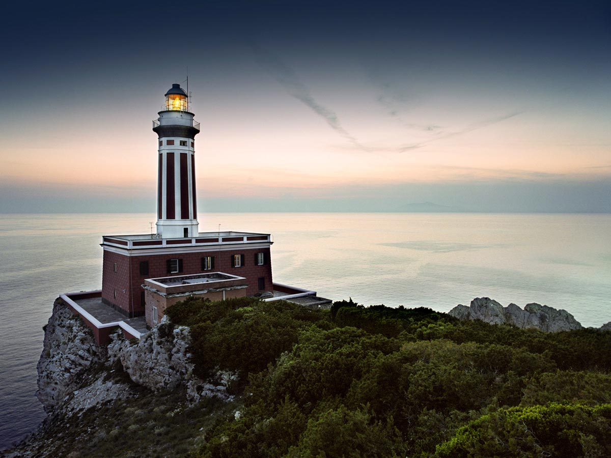 Punta Carena Lighthouse, Capri, Italy Carmichael Productions, Inc. Landscape