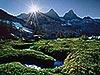 Ox Bow Meadow Stream, Sierra Nevada Carmichael Productions, Inc. Landscape