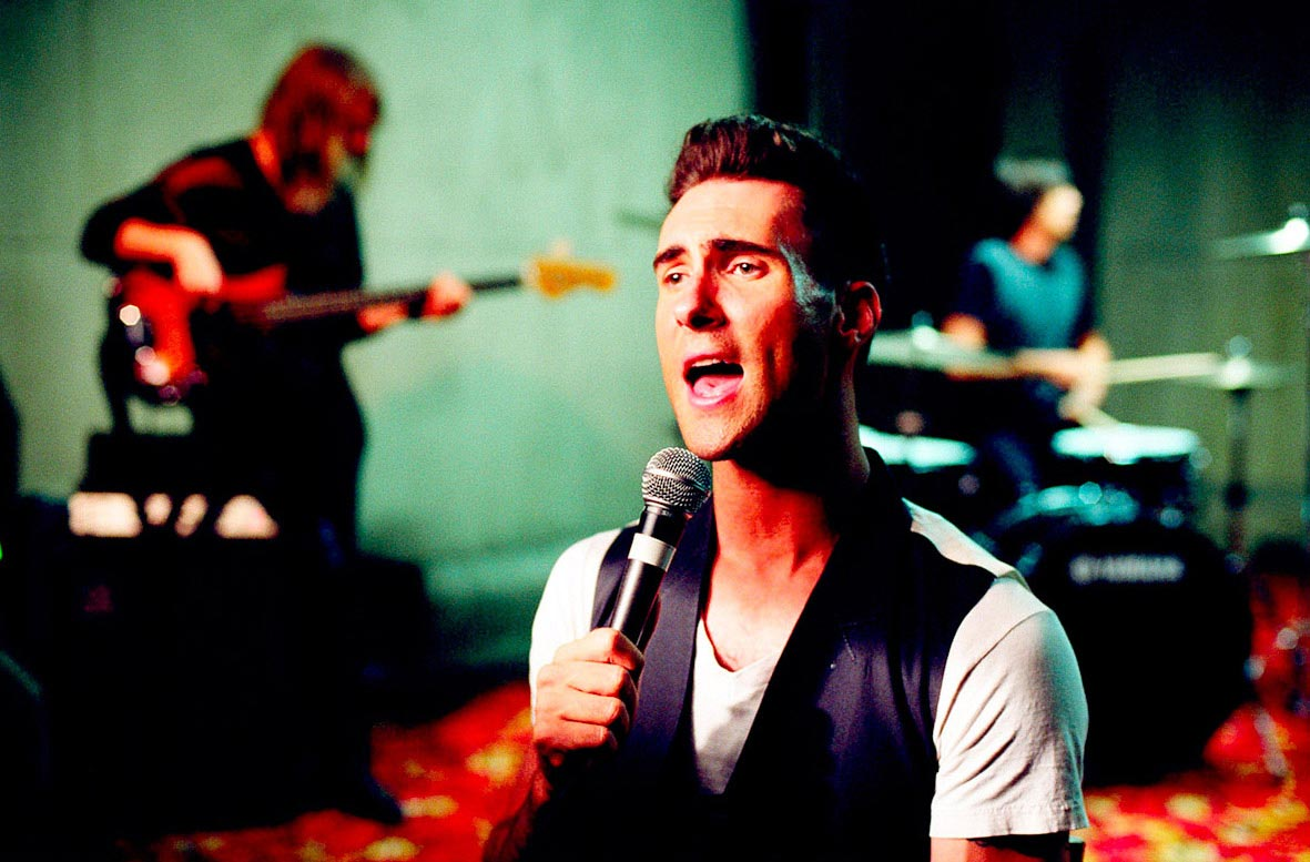 Carmichael Productions, Inc CU of Adam Levin Behind the Scenes Photography Maroon 5