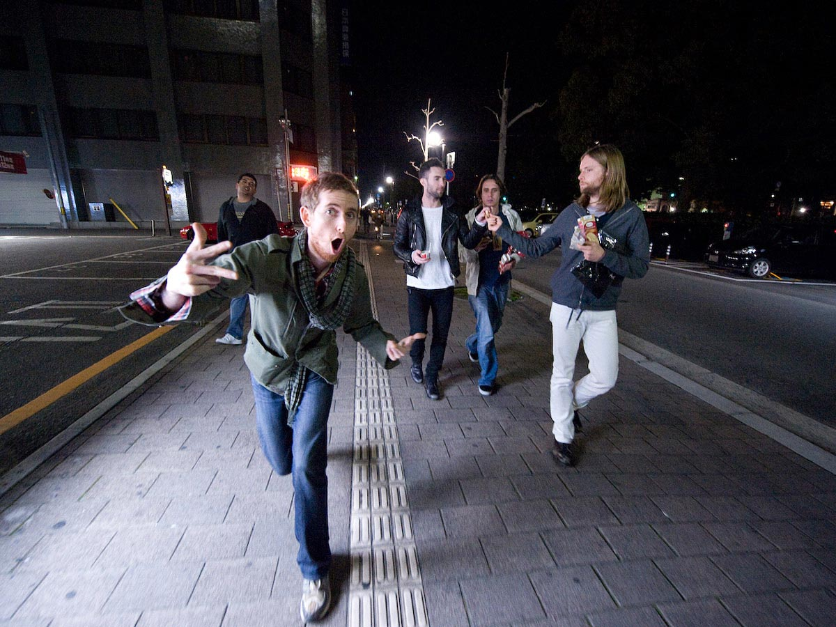Carmichael Productions, Inc Documentary in Tokyo Behind the Scenes Photography Maroon 5